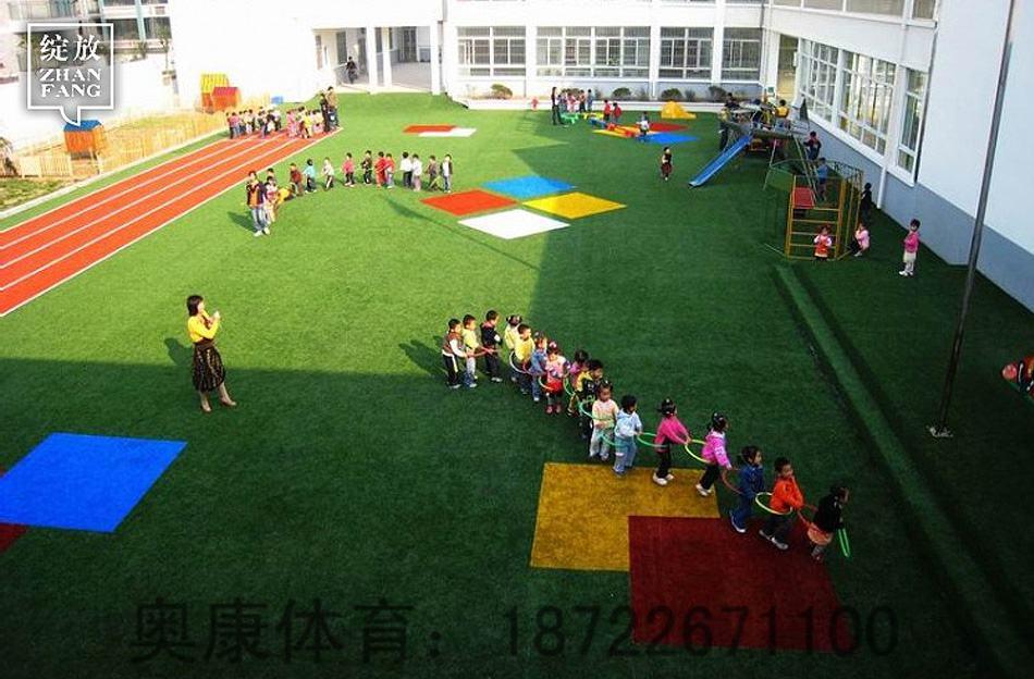 原阳县人造草坪施工足球场施工场地铺设
