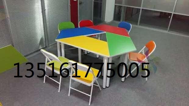 天津鑫亿办公家具厂彩色拼桌 工位桌 辅导桌定做