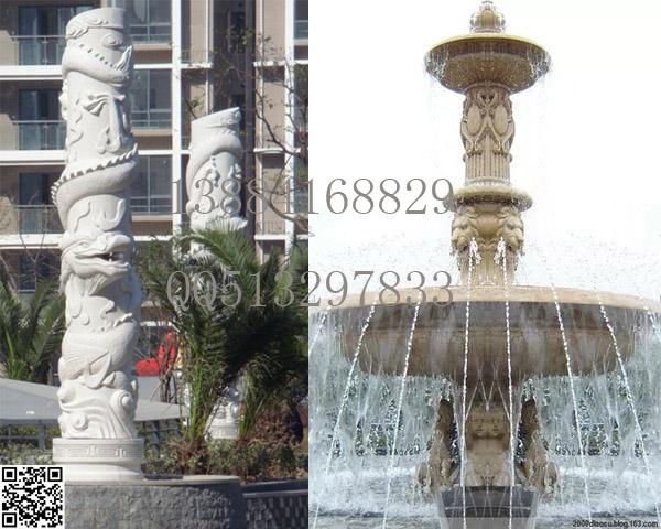 砂岩喷泉景观雕塑