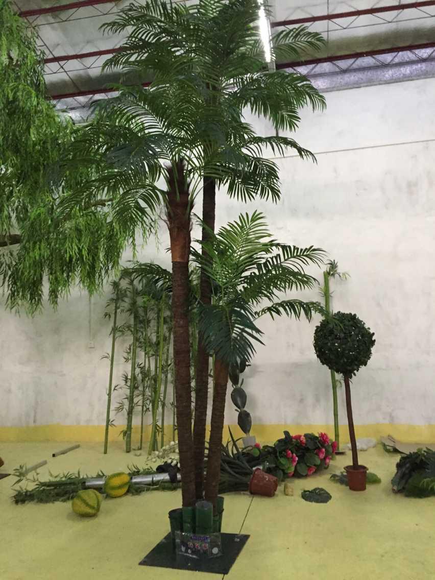 仿真棕榈树景观价格 假棕榈树盆景定制 室内外装饰工程 仿真棕榈树
