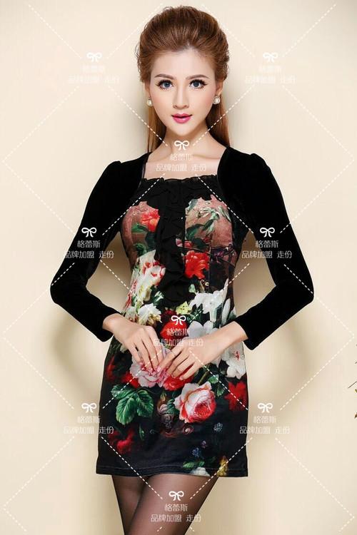 深圳高端品牌女装艾妮尔16年刺绣系列批发、女装库存尾货货源