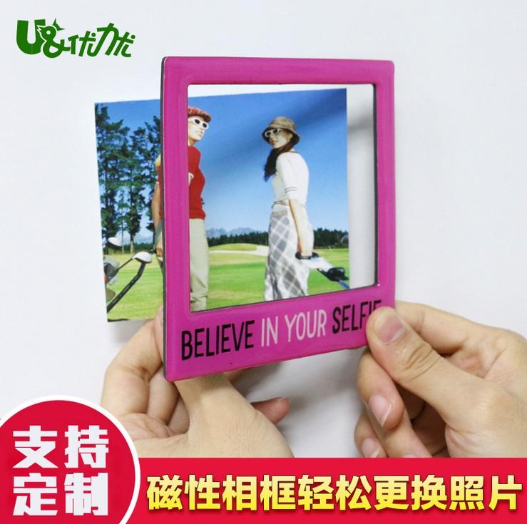 深圳优力优多功能磁性创意相框厂家PVC优质磁性相框