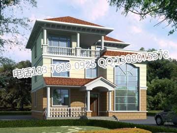 三层简约新农村房屋设计 农村房屋设计图