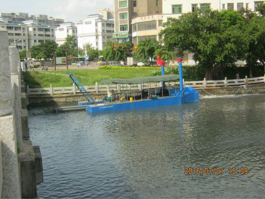 云南护城河清淤使用多大的挖泥船