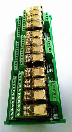 和泉二开二闭继电器模组24v中间继电器io中继板plc输出放大板