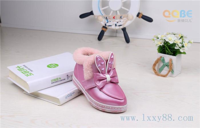 成都童鞋厂家2015年冬季儿童棉靴新款亲情贝儿童鞋