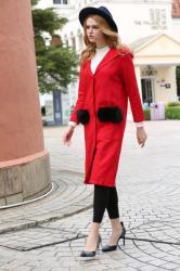 深圳当季新款冬装外套大衣中长款货源欣依折扣女装批发
