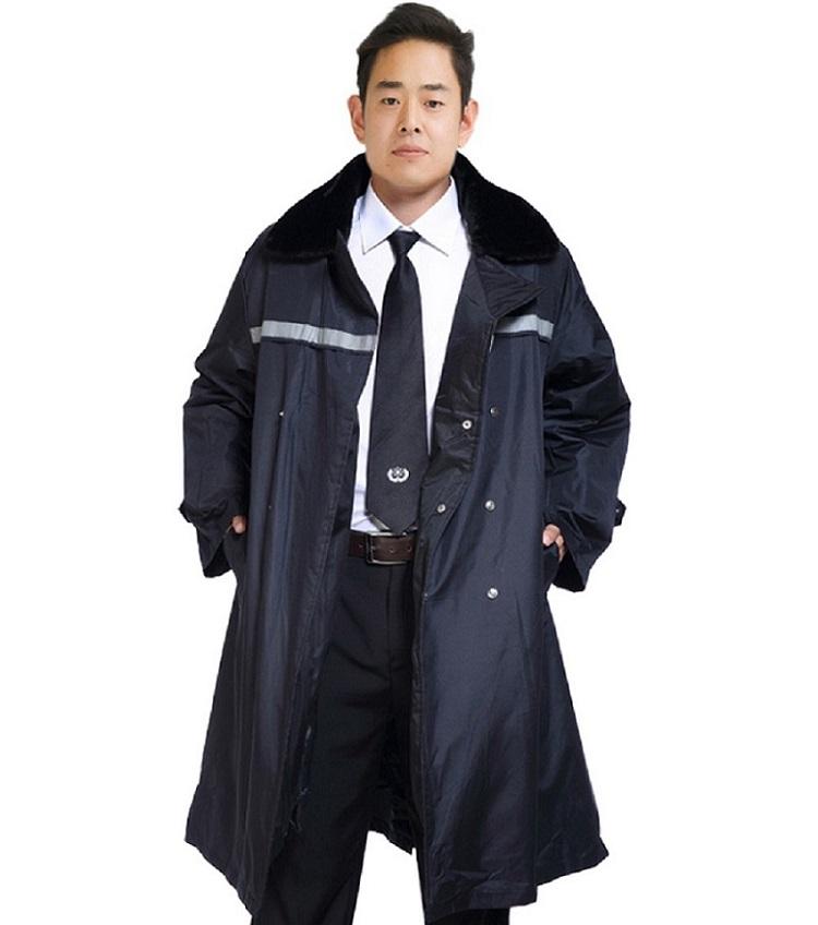 批发带反光条勤务服 冬装保安物业保暖防寒服