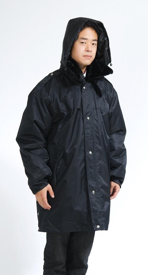 批发加厚多功能防寒服 保安物业保暖大衣