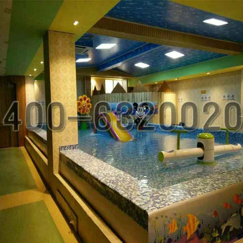 求购儿童游泳池钢结构健身房室内游泳池设备价格滑梯池