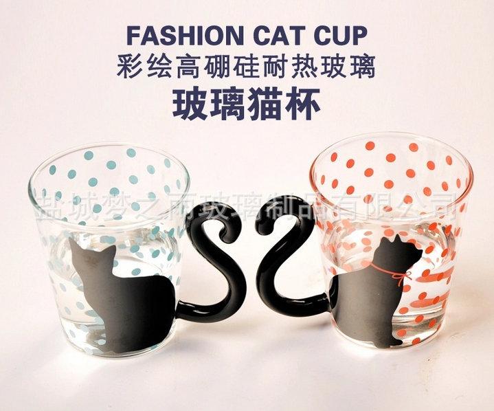 梦之雨 创意猫杯 卡通杯 男女办公室随杯 厂家批发