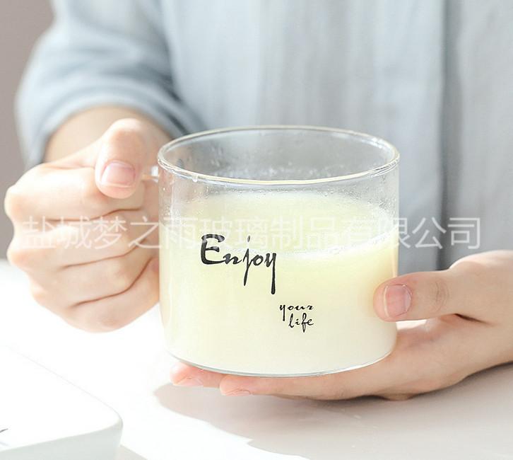 梦之雨 高硼硅玻璃杯 玻璃马克杯 厂家直销
