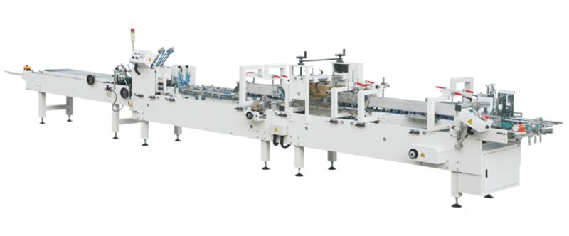 专业生产优质糊盒机 高速自动糊盒机(带预折锁底型)直销供应商温州哈得 品质保证