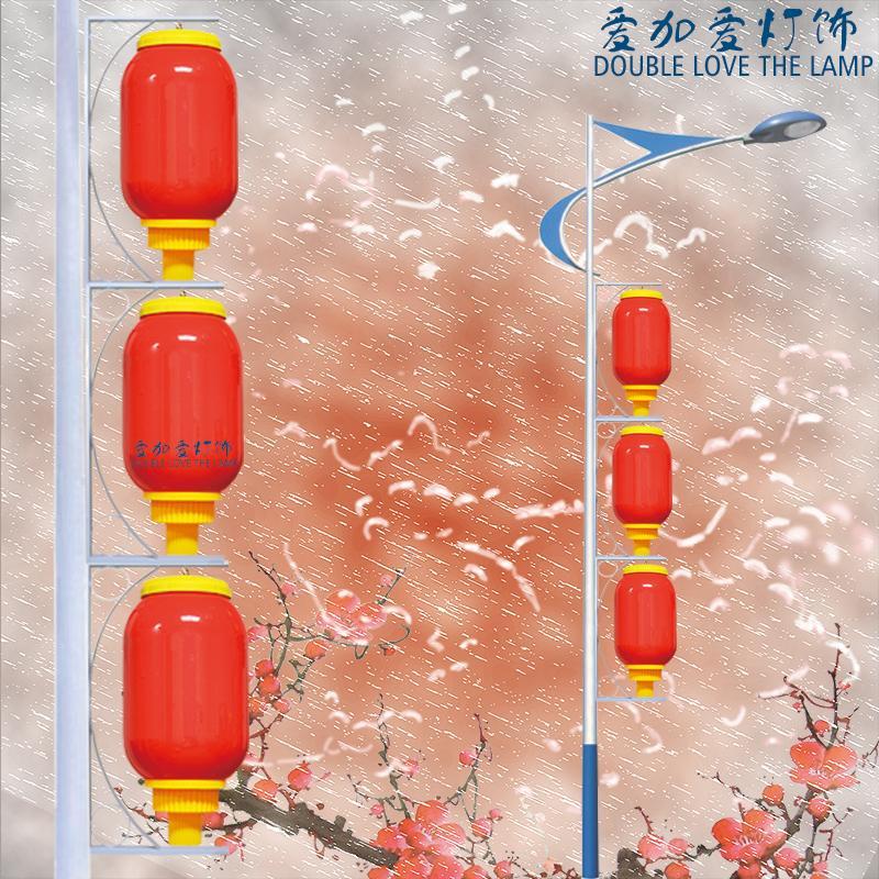 LED亚克力冬瓜灯笼 户外防水 路灯灯笼 发光灯笼串50 60 80厘米