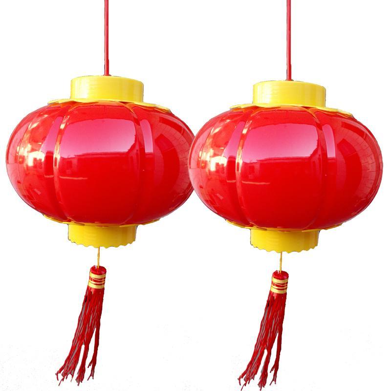 LED小灯笼 发光电源亚克力灯笼 户外挂树上的节能灯笼 红色串灯笼