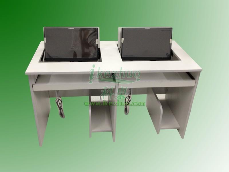 高档培训电脑桌 质量保证翻转电脑桌 科桌家具电脑桌批发