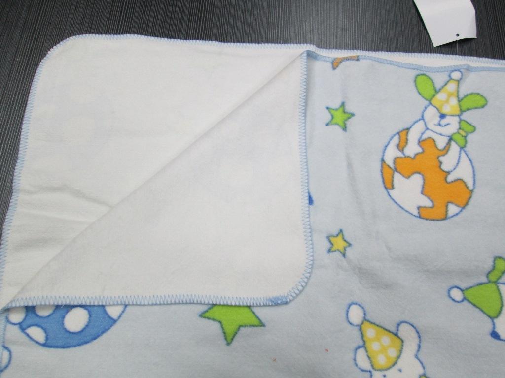 新疆长绒棉印花拉毛毛线勾边儿童毯