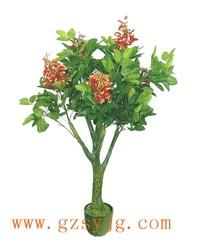 仿真牡丹花树 跨界 仿真牡丹花树制作 3米 假树仿真植物 大型仿真樱花牡丹花树