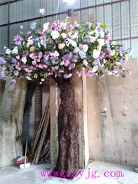 仿真玉兰花树 跨界 仿真玉兰花树制作 3米 假树仿真植物 大型仿真樱花玉兰花树