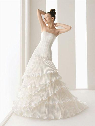 东莞婚纱加工公司新娘服饰褶