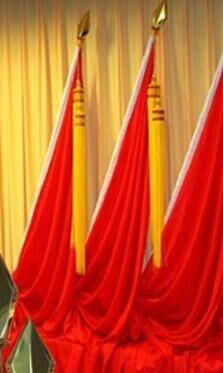 西安厂家宁派定制各类规格的会议旗 一号旗 二号旗 三号旗