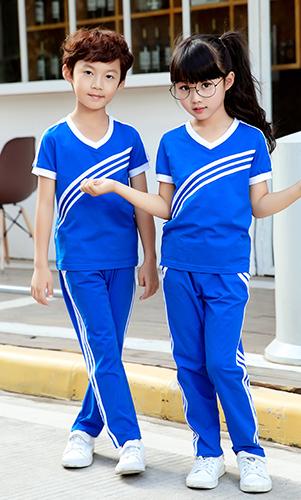 轩洋服饰幼儿园园服价格实惠质量保证套装健康纯棉衫