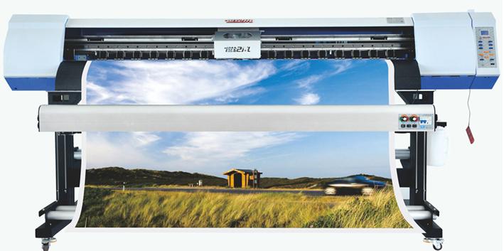 国产世纪风双头5113喷头高速高清写真机世纪风3180-5113型35-40平米每小时