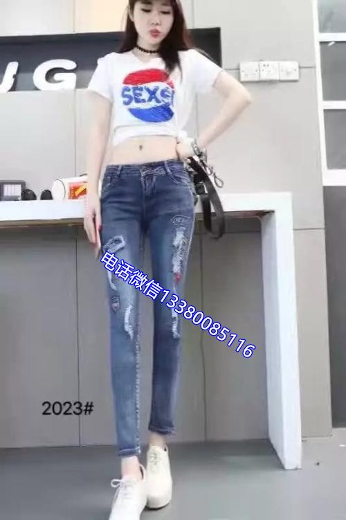 低价女士微喇牛仔裤女式杂款牛仔短裤女批发