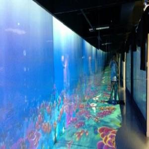 广州3互动墙面投影 互动时空隧道制造公司