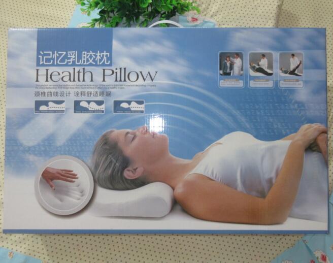 供应天然乳胶棉调节颈椎保健枕 慢回弹保持生理弧度 养生枕