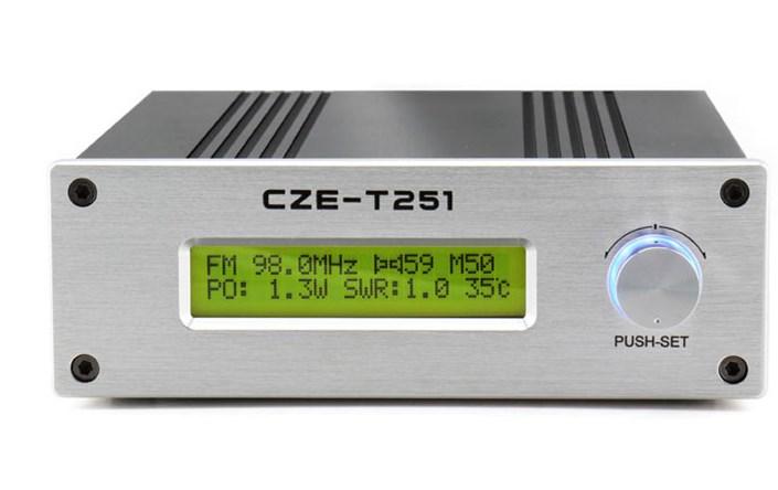 村村通工程CZE-T251 25W 高音质无线调频立体声发射机
