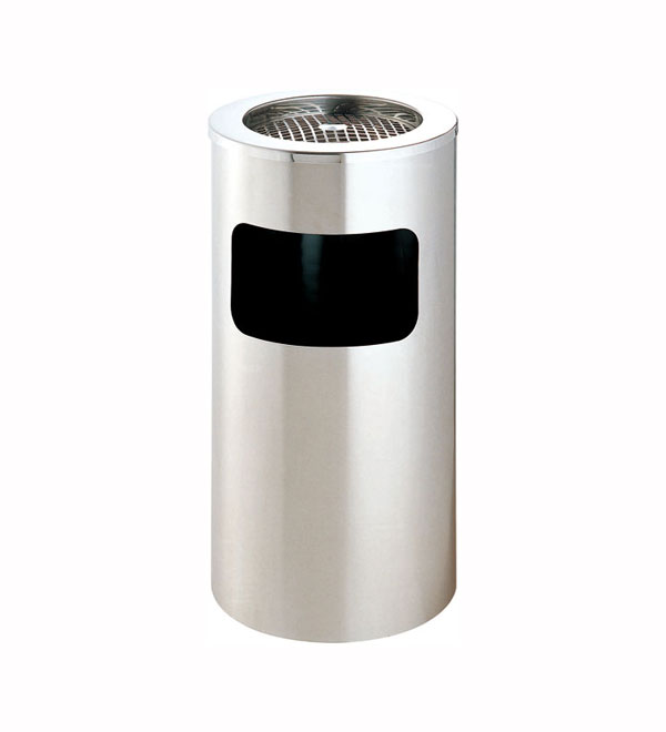 圆形不锈钢垃圾桶【批发厂家】银行用不锈钢垃圾桶定做