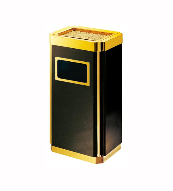 洛阳电梯口不锈钢垃圾桶供应商、商丘银行酒店钛金果皮桶/烟灰桶批发厂家
