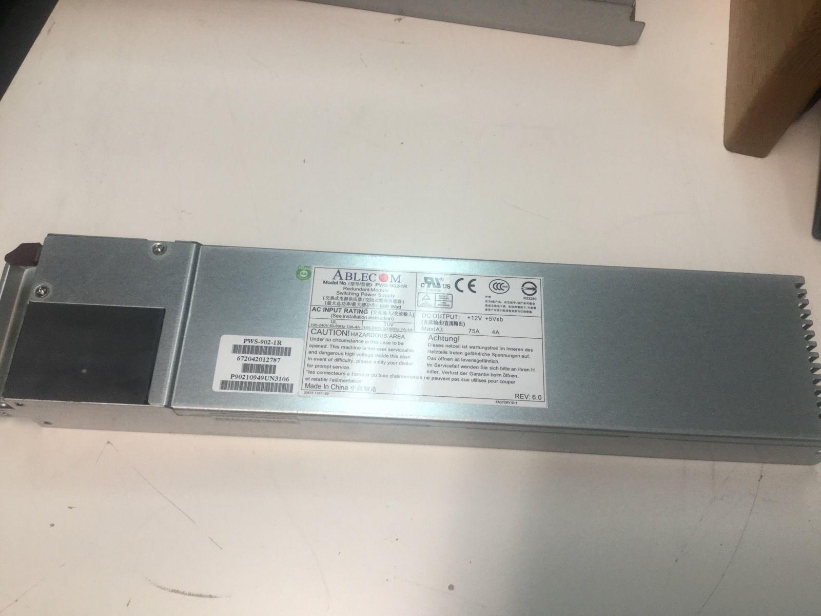 超微 PWS-1K21P-1R 1200W 服务器 冗余电源