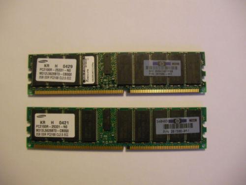 HP 261586-051 2GB PC2100R ECC 内存