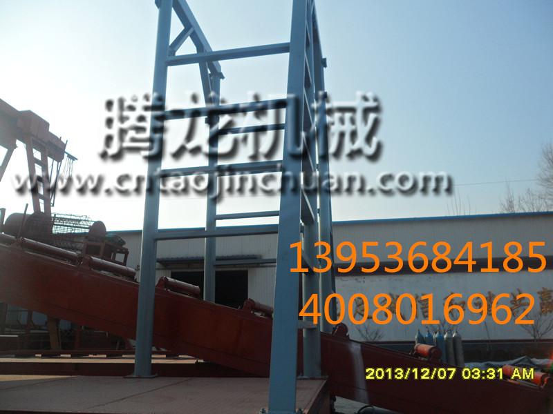 全新淘金船来袭青州腾龙专业制造淘金船链斗式