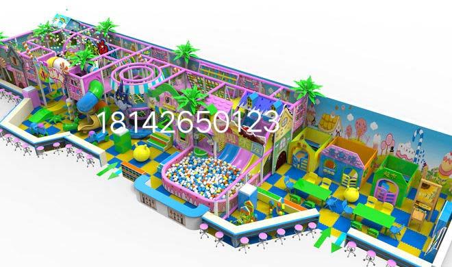 长沙康贝乐游乐儿童淘气堡百万球池组合滑梯悬浮地垫