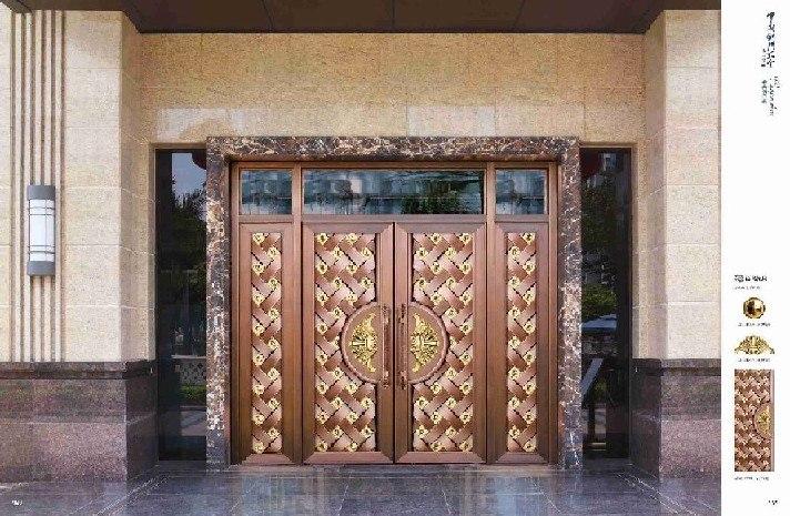 声誉好的仿铜门供应商当属旺源 别墅仿铜门定做