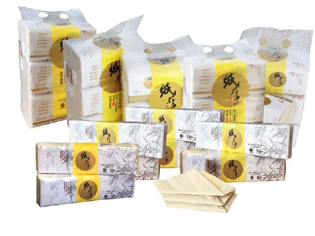 黄颜色的纸巾、纸在乎本色纸巾批发
