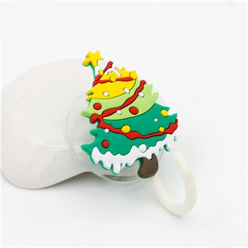 圣诞节PVC吸盘挂钩 圣诞树吸盘挂钩 欧美圣诞节节日用品吸盘挂钩