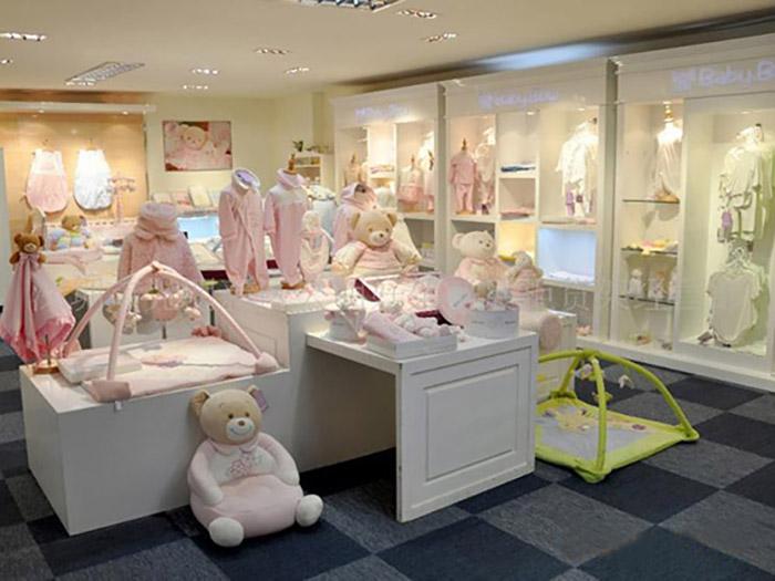 银川华恒展柜童装展柜美观精致、固原童装展柜