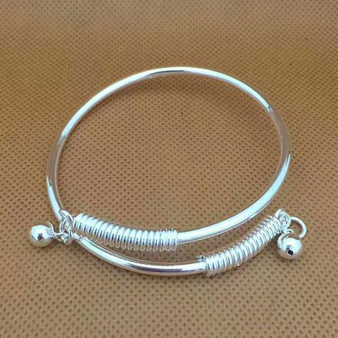 亚西亚银饰批发-新款交叉铃铛手镯、925银饰批发、泰银批发、纯银批发