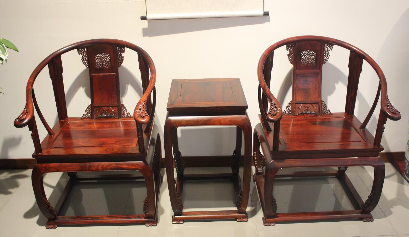 具有良好口碑的老挝大红酸枝皇宫圈椅厂家 创意明清