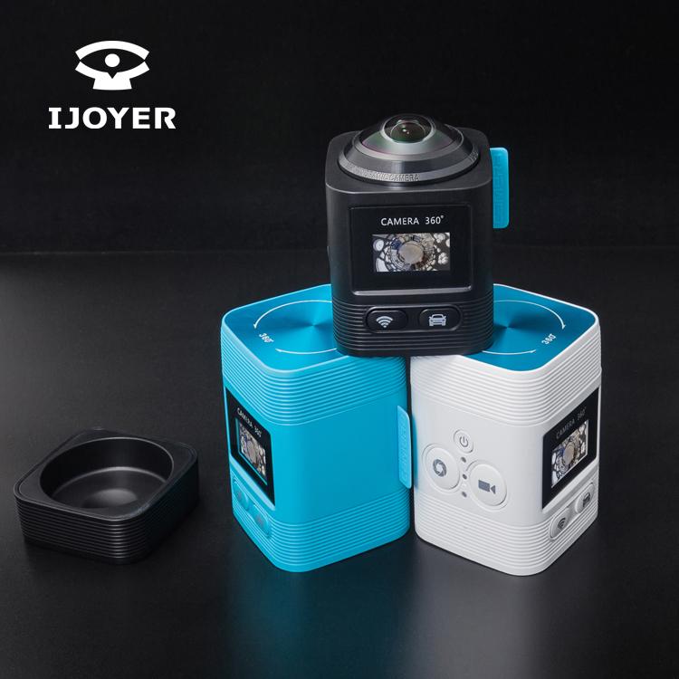 IJOYER360度全景运动相机摄像机艾卓悦720全景行车记录仪防碰记录360度VR摄像机批发