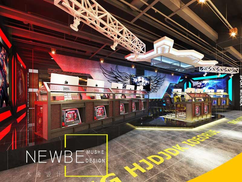 太原酒店设计哪家好、独具新颖的太原网咖网吧设计