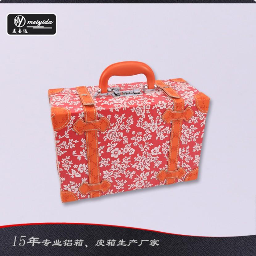 美易达品质韩版化妆箱manbetx登陆定做 密码锁扣手提双开