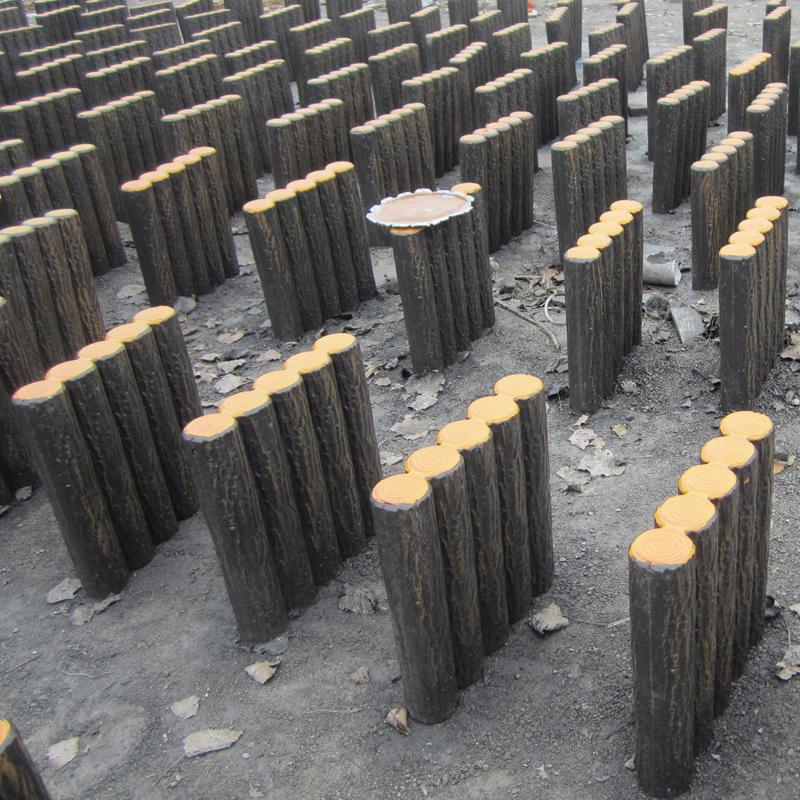海南 环保耐用仿木仿树皮 仿木桩水泥仿木栏杆   水泥仿树桩垃圾桶