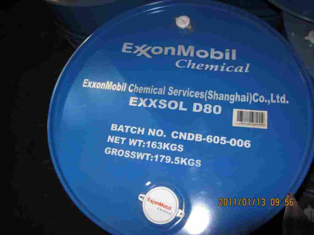 供应环保溶剂油Exxsol D80埃克森美孚PVC降粘剂
