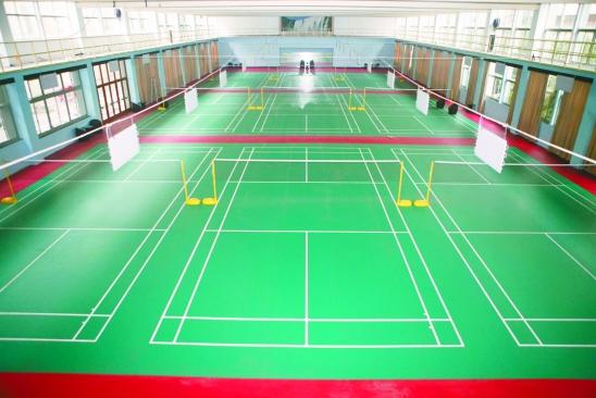 东城PVC羽毛球地板铺装