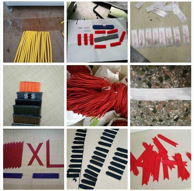 各种形状织带丝带缎带松紧带商标带绳子箱包带剪切加工